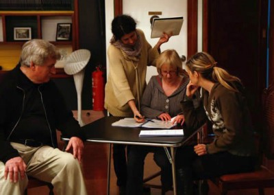 Workshopping a script at Melbourne Writers Theatre
